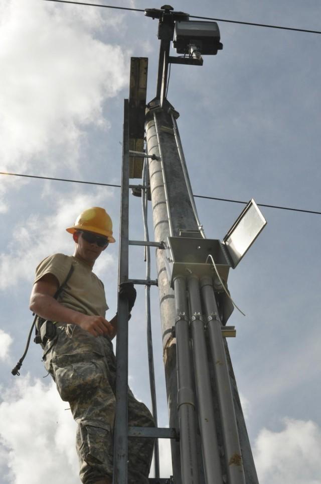Army engineers upgrade ski lift