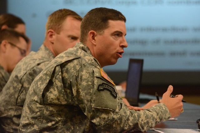 Capt. Paul Lushenko tells Chief of Staff of the Army Gen. Ray Odierno what his team thinks about the Army's talent management and what improvements are needed.