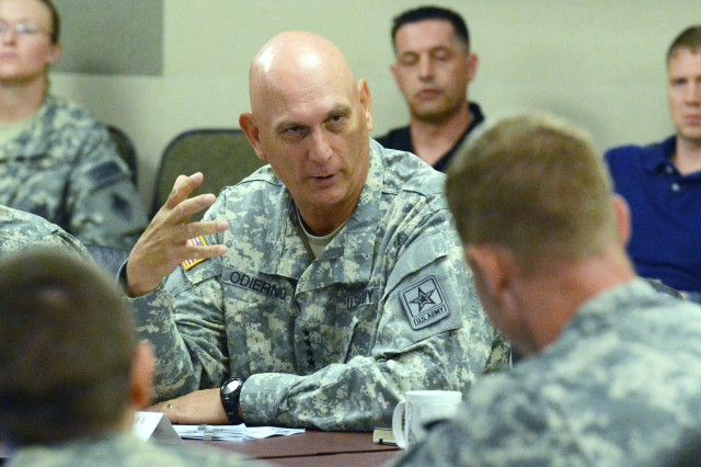 Chief of Staff of the Army Gen. Ray Odierno asked a group of captains how they think talent-management efforts are working and what improvements, if any, are needed.