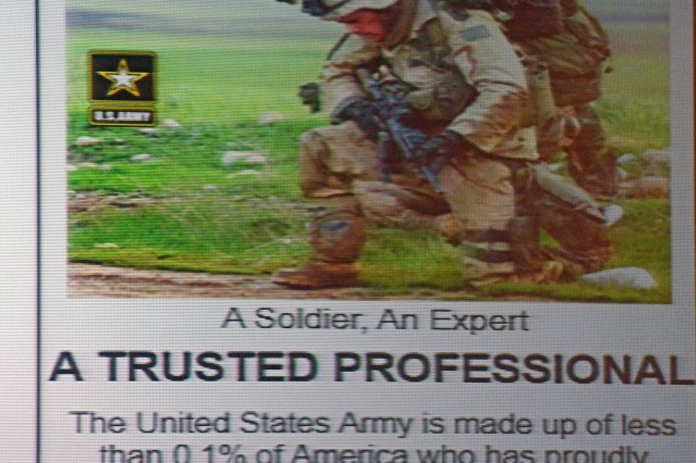 "Captains at Solarium 2014 said ""Army Strong"" has been a pretty good slogan but comes up short in several areas. ""A Trusted Professional"" or ""Trusted Professionals"" would be an improvement, they concluded."