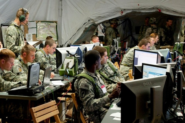"""The Army is creating a standard marketplace of tactical communications hardware to support the Common Operating Environment, which aims to reduce stovepipes and deliver Soldiers a """"plug-and-play"""" experience, whether they are accessing information on secure handheld devices, vehicle mounted systems or command post screens."""