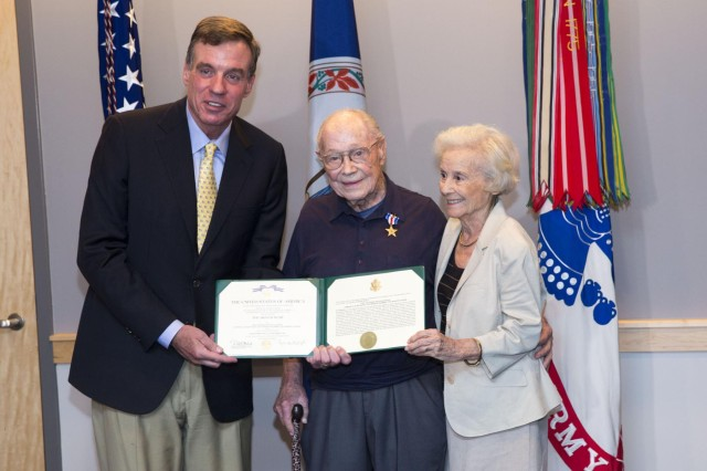 The Silver Star Award Ceremony for Retired Lt. Col. Ralph W. Kuethe in Comny Hall, July 11, 2014, at Joint Base Myer-Henderson Hall, Va. The 95-year-old World War II veteran received the award for his heroic actions in combat some 70 years ago.