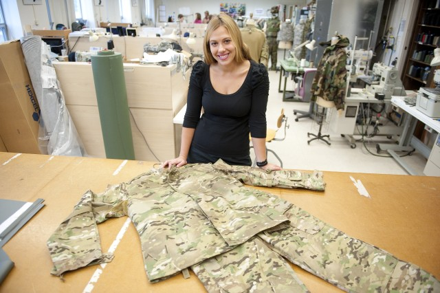 Annette LaFleur, team leader for NSRDEC's Design, Pattern and Prototype Team, uses a 2-D design program, but she is excited about the possibilities that 3-D printing capabilities hold for her industry and possibly for Soldiers.