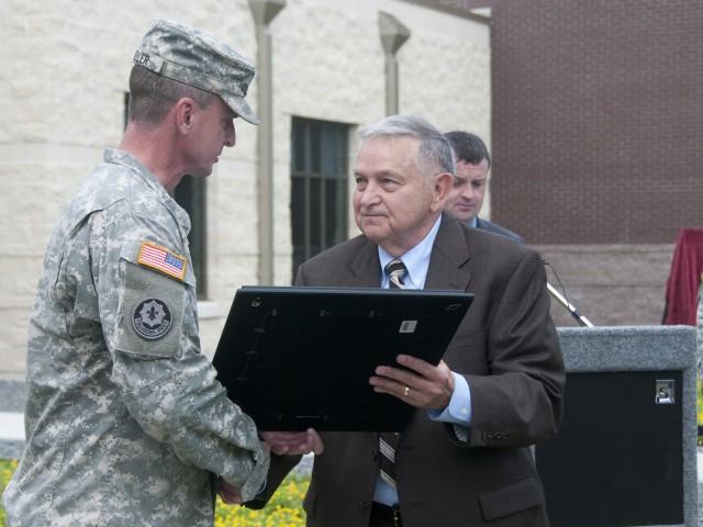 Maj. Carl Keller and Ambassador James Darden