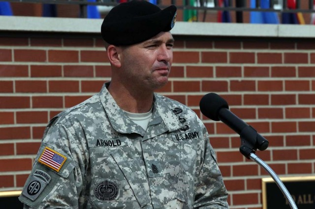 Command Sgt. Maj. Gabriel Arnold, incoming senior enlisted leader, U.S. Army Cadet Command and Fort Knox, Kentucky.