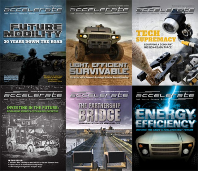 accelerate Magazine cover collage
