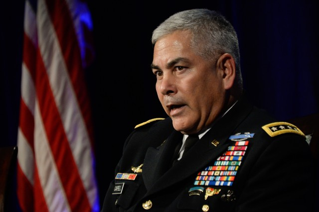 Army Vice Chief of Staff Gen. John Campbell discusses the future of American education during the Military Child Education Coalition National Training Seminar in Washington, D.C., July 29, 2014.