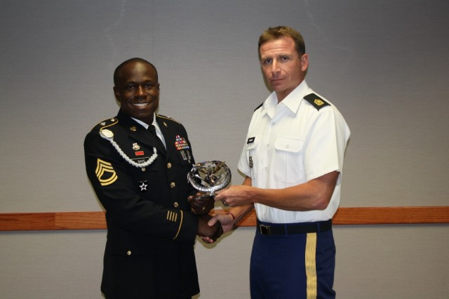 Sgt. 1st Class Rudregus Davis is named the Fort Sill Fires Center of Excellence Tenant Unit Career Counselor of the Year 2014