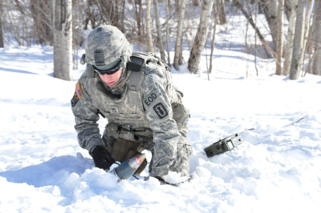 U.S. Army Explosive Ordnance Disposal technicians from 20th CBRNE Command respond to dozens of unexploded ordnance calls a month, both on and off post.