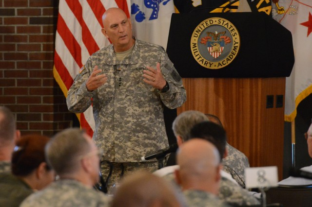 Chief of Staff of the Army Gen. Ray Odierno discusses ethics with senior Army leaders at the U.S. Military Academy at West Point, N.Y., July 30-31, 2014.