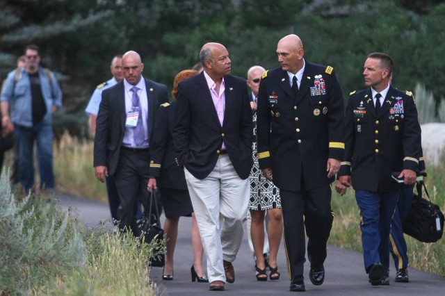U.S. Army Chief of Staff, Gen. Ray Odierno, participates in Aspen Security Forum