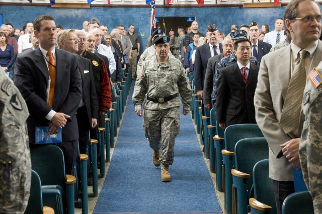 Then-Brig. Gen. Harold Greene prepares to relinquish command of Natick Soldier Systems Center during a ceremony at Natick, Mass., May 10, 2011.