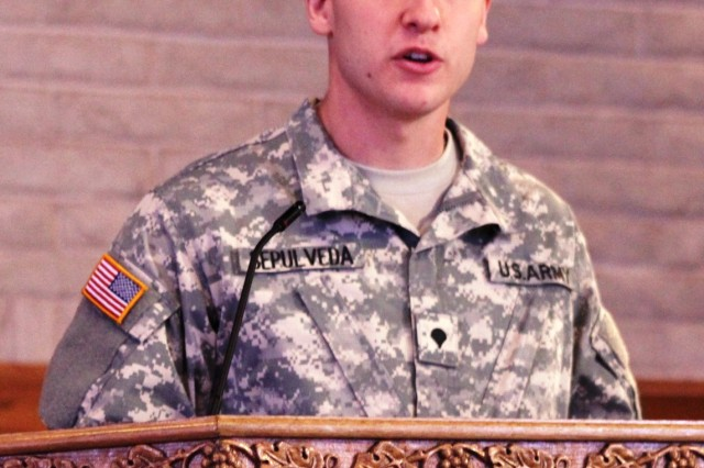 Spc. Benjamin Sepulveda, main post chapel chaplain assistant, talks about the history of the chaplain assistants, their training and contributions to the Chaplain Corps and the Army. This year there are 11 chaplain assistants assigned on post.