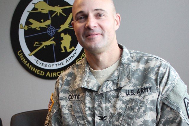 "Army aviator turned acquisition officer Col. Courtney Cote assumed command of the Unmanned Aircraft Systems Project Office in early July. ""I am very grateful this opportunity was bestowed upon me,"" he said."