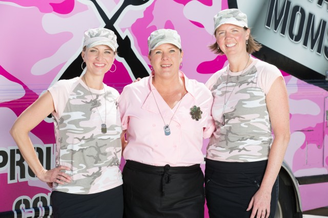 Team Military Moms is comprised of Michele Bajakian, Carol Rosenberg and Wendy Newman, as seen on Food Network's, The Great Food Truck Race Season 5. The season premiere will air at 9 p.m. (EST), Aug. 17, 2014, on Food Network.