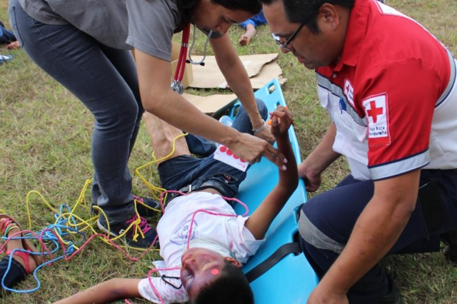 Joint Task Force-Bravo's Medical Element hosted a Pediatrics in Disasters course to train Honduran pediatricians about the healthcare needs for children in disaster preparedness and emergency response, Aug. 7-9, 2014, at Soto Cano Air Base, Honduras.