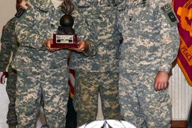 A three-Soldier team from the 706th Explosive Ordnance Disposal Team earned the title 2014 EOD Team of the Year, Aug. 15 at Fort A.P. Hill, Va.