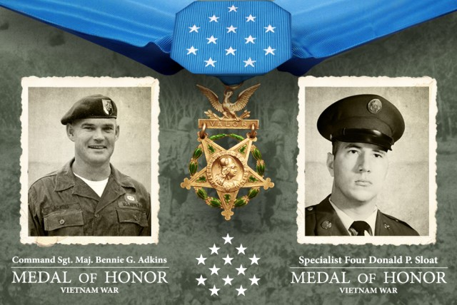 Command Sgt. Maj. BennieG. Sloat - Spc. 4 Donald P. Sloat Medal of Honor graphic