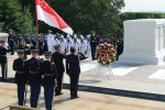 Singapore's top defense chief honors the fallen during trip to Washington