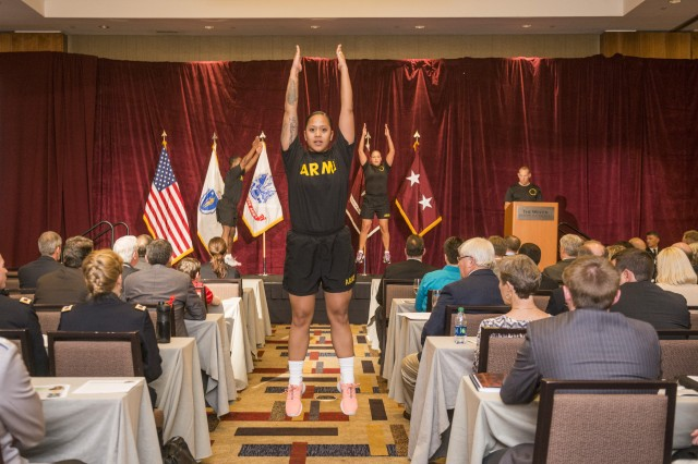 Fitness was one area of focus at the 3rd International Congress on Soldiers' Physical Performance, held Aug. 18-21 in Boston.
