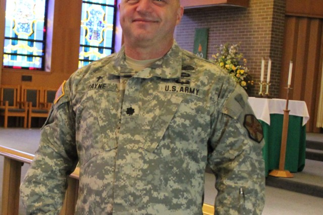 Chaplain (Lt. Col.) Gary Payne is the new Garrison chaplain. In that role, he will manage religious support operations at Redstone Arsenal, including activities at Bicentennial Chapel.