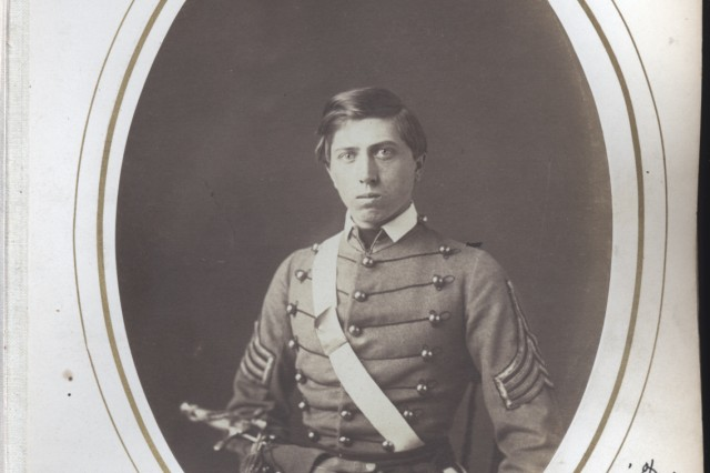 West Point class photo of Alonzo Cushing, in 1816.