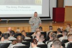 CAPE director discusses responsibility, Army Profession at Fort Leonard Wood