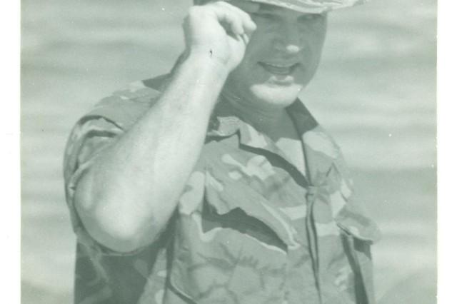 Command Sgt. Major Bennie G. Adkins, in 1966.