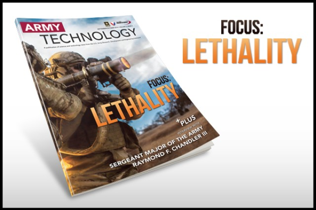 The September/October 2014 Army Technology Magazine discusses lethality research. View or download the issue by following the link below in Related Files.