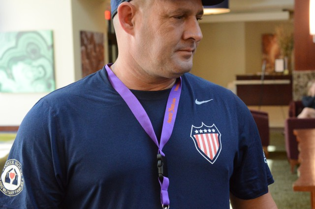 Retired Staff Sgt. Jessie White will compete in archery, shot put and discus.