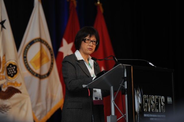 Hon. Heidi Shyu, ASA(ALT), addresses the challenges facing the Army of today and tomorrow during the sixth annual GVSETS on Aug. 12.