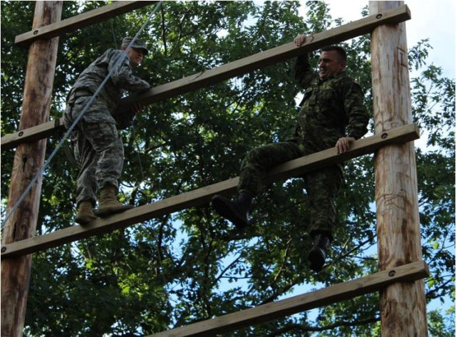 Soldiers tacked Fort Drum Course