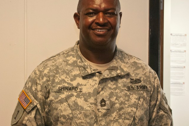 "VICKSBURG, Miss. -- Master Sgt. James Shinard, mobilization and readiness  noncommissioned officer, 412th Theater Engineer Command, said ""When 9/11 hit what it did for me was it reaffirmed my commitment as a Soldier, as a citizen."""