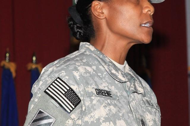 Command Sgt. Maj. Cheryl N. M. Greene, command sergeant major, 402nd AFSB. (U.S. Army Photograph)