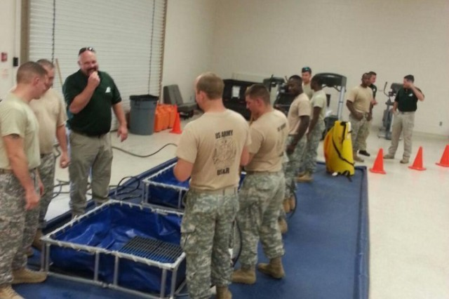 Soldiers with the 683rd, 493rd and 379th Engineer Detachments (Firefighter), all out of Pascagoula, Miss., and the 468th Engineer Det. (Firefighter) out of Danvers, Mass., participated in hazardous material technician training in Pascagoula Aug. 18 to 29.