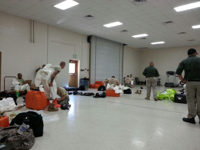 Firefighter Soldiers conduct HAZMAT training, prepare for any contingency