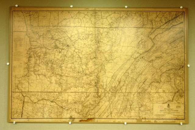 This Is A Replica Of An Original Military Map Of Middle Tennessee From 1874 That Is