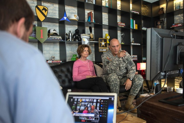 Gen. Odierno holds virtual town hall