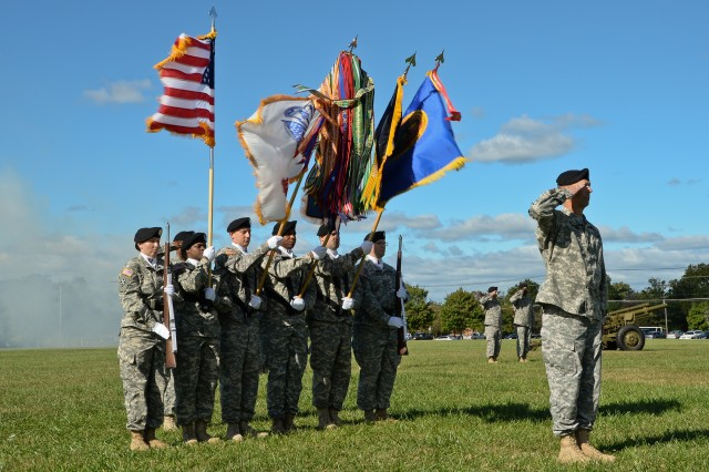 The U.S. Army Research, Development and Engineering Command holds an assumption of command ceremony Sept. 22, 2014, at Aberdeen Proving Ground, Maryland.