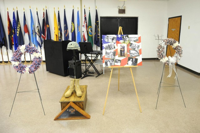 The 412th Theater Engineer Command held a memorial for U.S. Army Reserve Lt. Col. Shane Galster Sept. 21 at the George A. Morris Army Reserve Center in Vicksburg, Miss. Galster passed away June 3 of natural causes. (Courtesy photo)