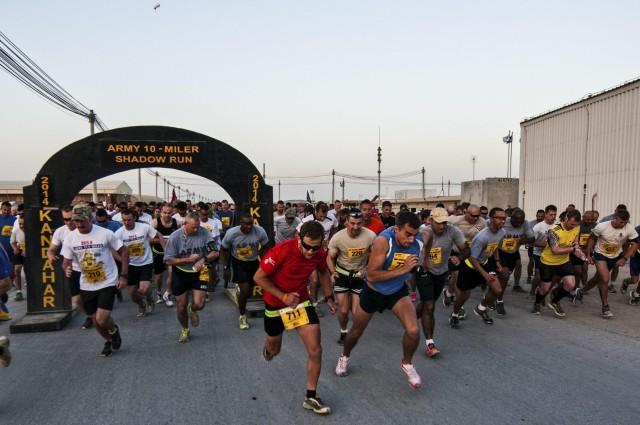 Army Ten-Miler shadow run held on Kandahar Airfield