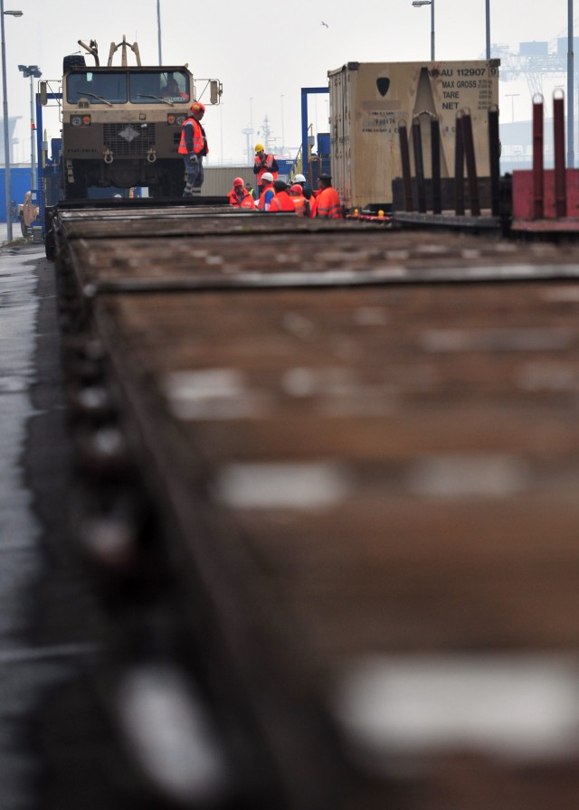 Planes, Trains and Ferries: 1/1 CAV equipment arrives in Europe