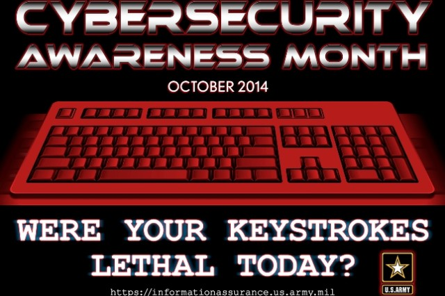 The Defense Department gets hit with approximately 10 million cyber attacks each and every day, and a very large number of them are aimed directly at the Army. The annual National Cyber Security Awareness Month each October is sponsored by the Department of Homeland Security in cooperation with the National Cyber Security Alliance and the Multi-State Information Sharing and Analysis Center.