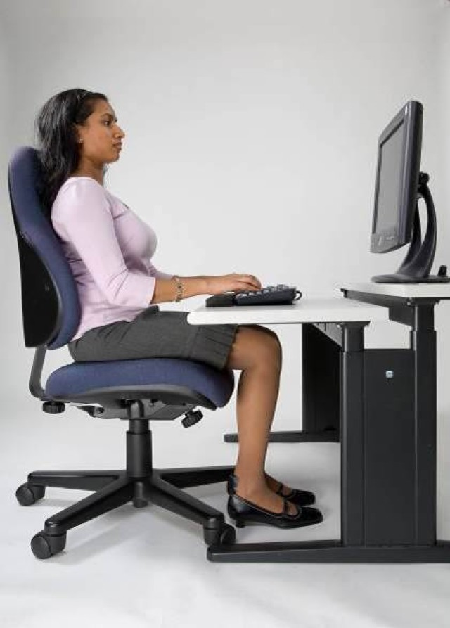 Proper seated position