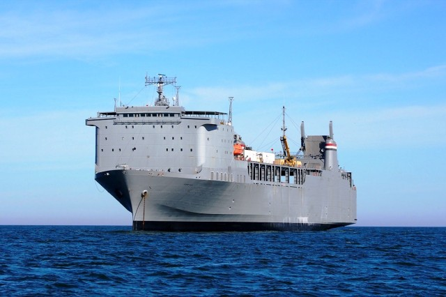 The MV CAPE RAY is one of 46 vessels in stand-by status in the Ready Reserve Force, a fleet managed by the Maritime Administration, to provide for rapid mass movement of DOD equipment and supplies. The ship was the platform used for the destruction of Syria's declared chemical weapons stockpile.