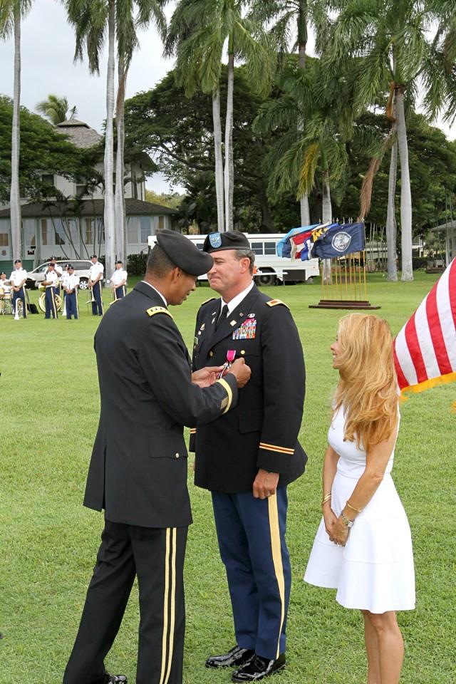 Col. Richard J. Kramer's receives retirement pin