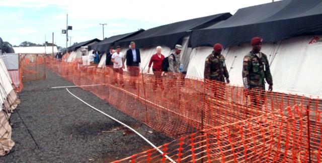 Visiting Ebola treatment facility