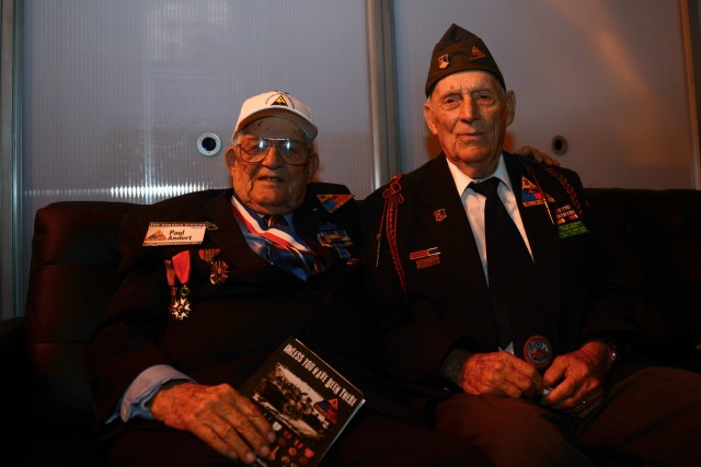 Soldiers, WWII veterans honored at Brad Pitt's movie premiere