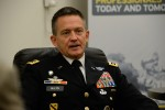 Army Vice Chief Talks with Reporters