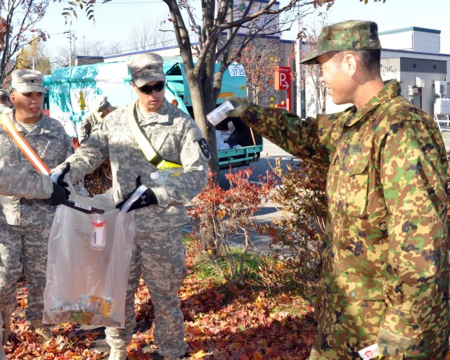 US Soldiers support community engagement during Orient Shield 14